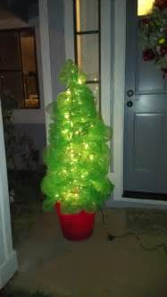 how to make a christmas tree using deco poly mesh and a