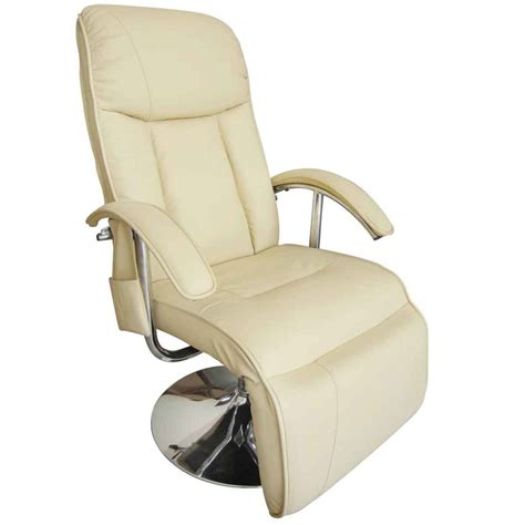 cream recliner chairs cream white electric tv recliner massage chair vidaxl com