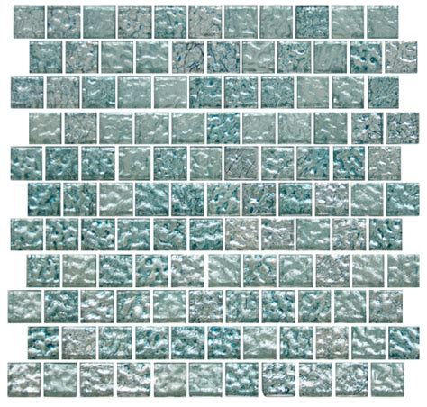 html layout offset 1 inch iced aqua steel blue metallic glass tile reset in