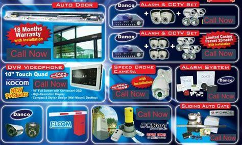 Cctv In Malaysia cadenco cctv melaka e tech auto door danco alarm system