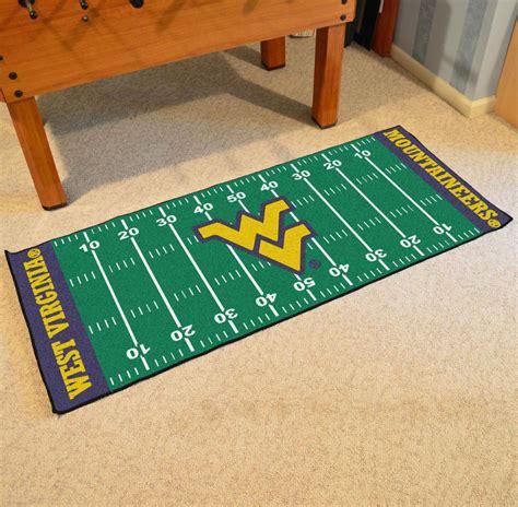 wvu rug fan mats 7339 wvu west virginia mountaineers 30 quot x 72 quot football field shaped runner rug