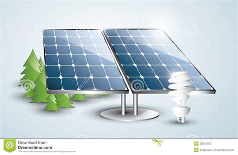 Solar Fluorescent Light Solar Panel Installation With Lightbulb Royalty Free Stock