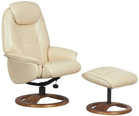 cream recliner chair gfa oslo cream bonded leather swivel recliner chair