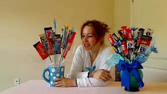 how to make a candy bar bouquet youtube