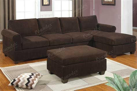 suede sectional sofa bobkona sofa set sectional sectionals w chaise corduroy suede chocolate ebay