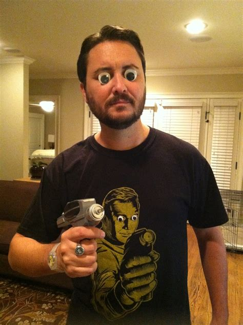 wil wheaton tattoo wil wheaton wearing googly and holding a phaser