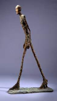auctions giacometti s walking i sculpture sells at