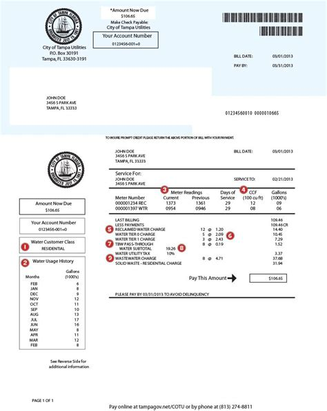 water bill template utility bill template images