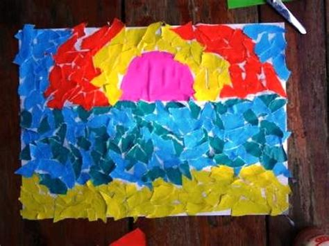How To Make Paper Collage - torn paper collage an idea for preschoolers crafts for
