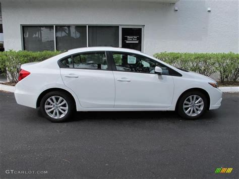 taffeta white 2012 honda civic ex sedan exterior photo