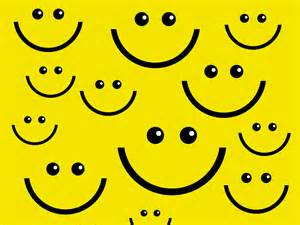 smile face ppt backgrounds black design yellow
