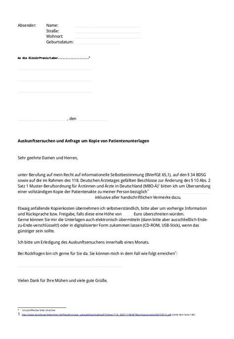 Mit Freundlichen Grüßen Musterbrief Freiheitsfoo Wiki Auskunftsersuchen Patientenakte