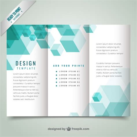 design leaflet free download geometrical modern brochure template vector premium download