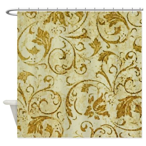 antique shower curtains antique swirls shower curtain by artegrity