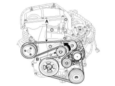 2006 Hyundai Sonata Belt Diagram 2012 Hyundai Sonata L4 2 4l Serpentine Belt Diagram