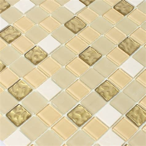 self adhesive glass mosaic tiles gold tm33426