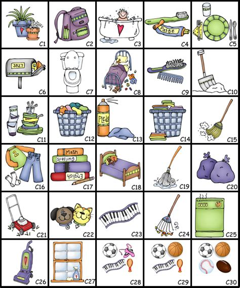 home chores chore chart clipart google search family management