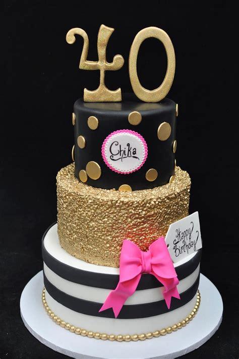 image result  black  gold  birthday cake cake pasteles de fondant mujer cumpleanos