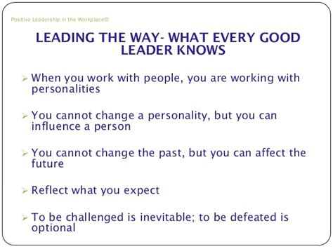 positive leadership in the workplace