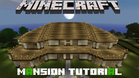 minecraft house tutorial step by step minecraft mansion tutorial youtube