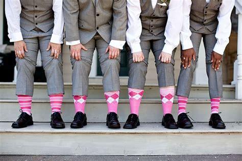 groomsmen pink argyle socks the groom