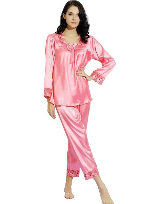 Satin Silk 10 silk satin pajamas pyjama sleepwear set s m l 2xl 3xl 8 10 12 14 18 plus ebay