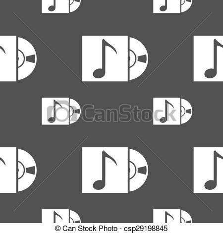 Cd Seamless Sl001 Free Size eps vector of cd player icon sign seamless pattern on a
