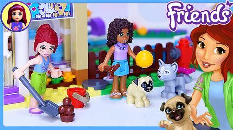 lego friends puppy daycare lego friends heartlake puppy daycare set build review silly play toys