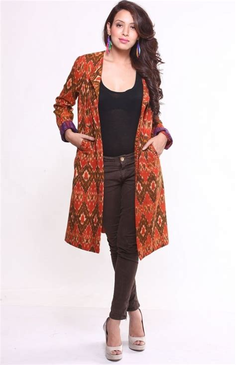 model cardigan batik panjang wanita modern unik  cantik