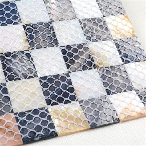 shell mosaic tiles black white shell mosaic tiles black white of pearl tile backsplash