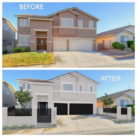 stucco desert las vegas house modern facelift render