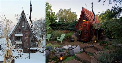 tiny reclaimed wood cabins   plucked
