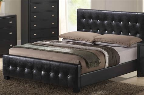 black queen size bedroom sets black finish modern bedroom set w queen size bed
