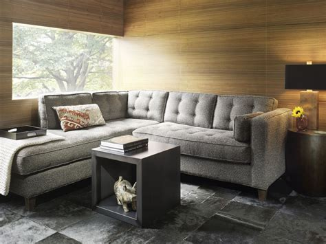 Sectional For Small Living Room | contemporary small living room decoration gray sofa
