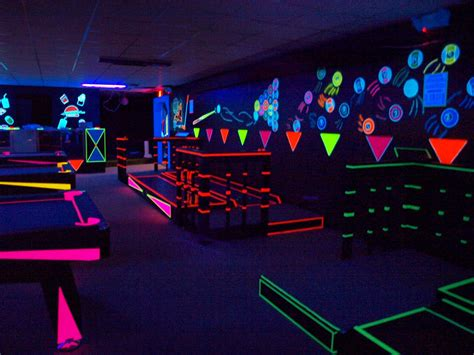 pictures of beautiful black light rooms glow a rama entertainment complex
