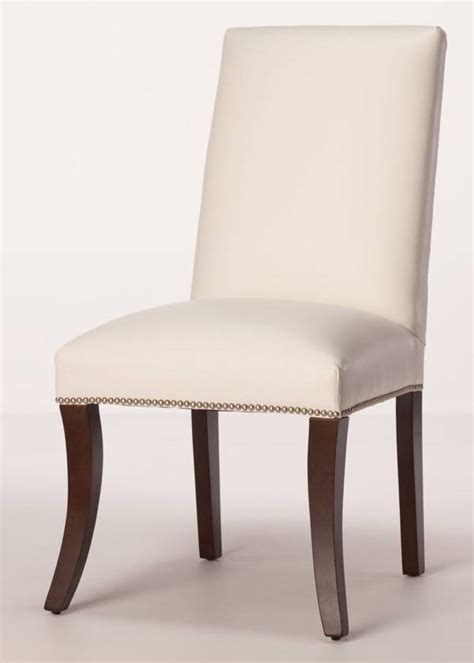 White Leather Parsons Dining Chairs Sheffield Leather Parsons Dining Chair