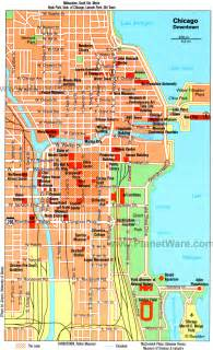 Chicago Sightseeing Map by 15 Top Rated Tourist Attractions In Chicago Planetware