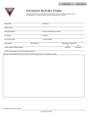 template for a subsequent report incident report template forms fillable printable