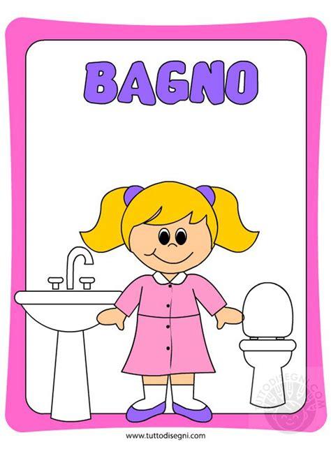 disegni bagno cartellone per la porta bagno bambine tuttodisegni