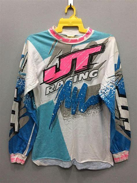 jt racing motocross gear vintage jt racing tshirt sleeve motocross