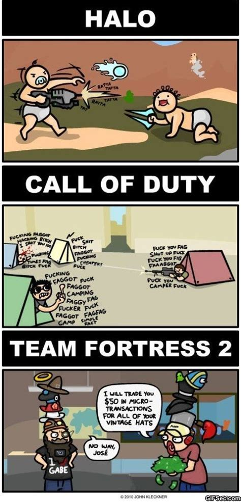 call of duty funny meme halo vs call of duty vs team fortress 2 funny pictures