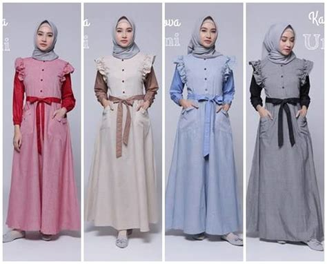 Ummi Shar I Dress abitistyle dot muslim fashion baju muslim terbaru