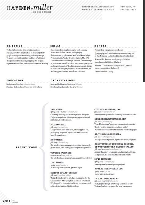 graphic design resume font resume resume layout and layout on pinterest