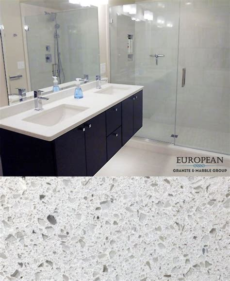 How Many Bathrooms Are There In The White House by This Sparkling White Quartz Countertop Brightens Up The