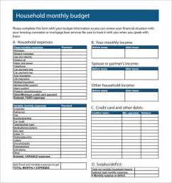 Family Monthly Budget Template Sample Family Budget 10 Documents In Pdf Excel Word