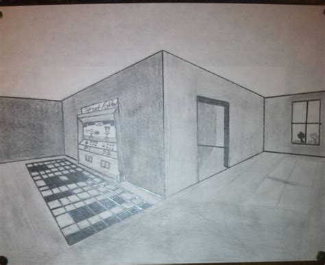 two point perspective room room sketch 2 pt perspective by sonicmemo on deviantart