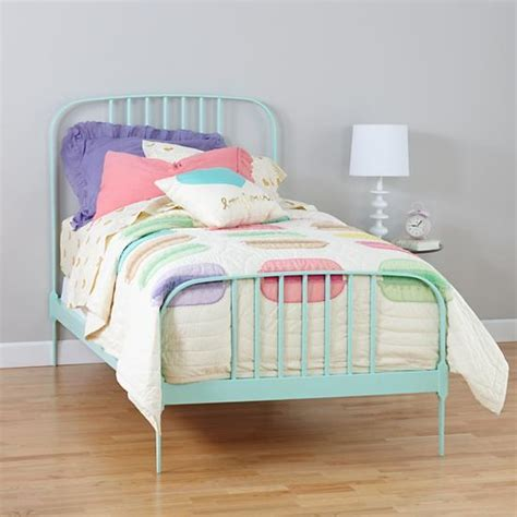 land of nod bed full larkin metal bed mint from the land of nod