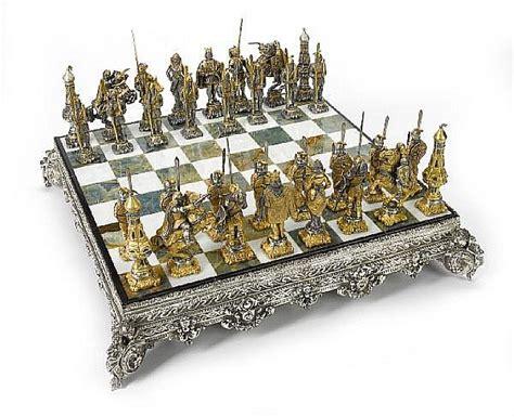 metal chess set a gilt metal figural chess set by giuseppe vasari italy c
