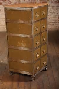 Vintage Industrial Multi Drawer Metal Cabinet at 1stdibs