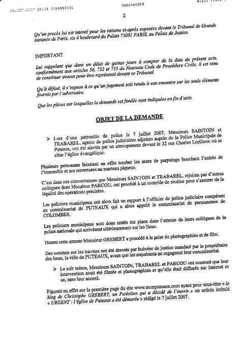 Modèle Assignation Tgi modele assignation tgi document